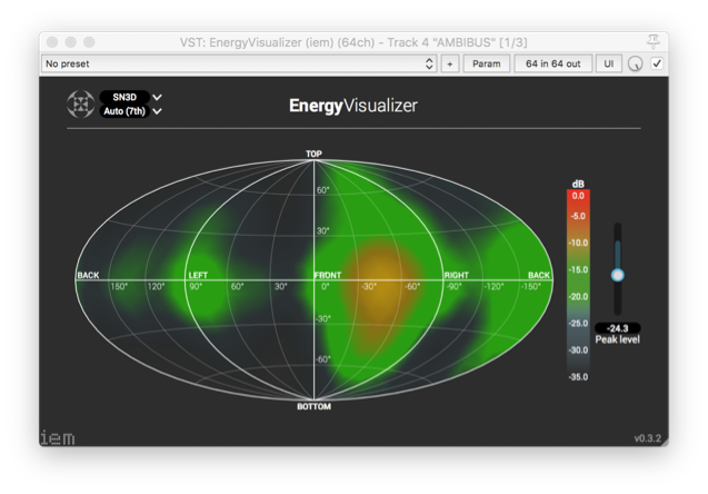 IEM Plug-in Suite : Energy Visualizer