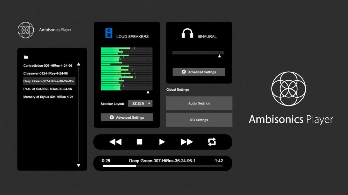 HOA再生アプリ : Ambisonics Player