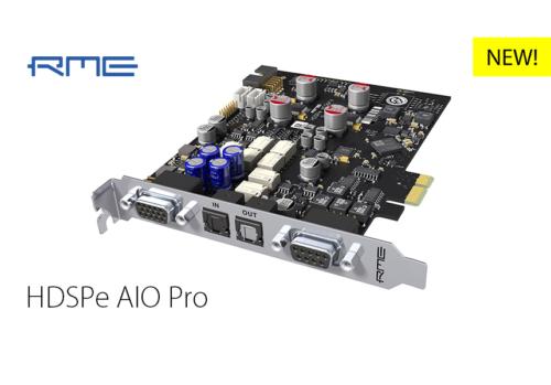 RME新製品:HDSPe AIO Pro
